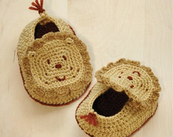 Häkelanleitung Baby Booties Lion Crochet Frühchen Schuhe Lion Strick Neugeborene Socken Lion Tierbaby -Booties Crochet Lion Applikationen