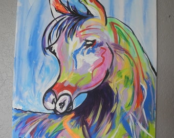 """Horse Painting """"Sneaky"""""""