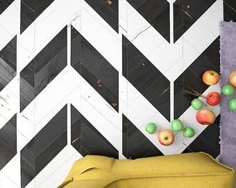 HERRINGBONE Geometric Stencil- Large Herringbone Stencil For Floors And Walls