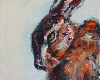 Acrylic Painting of Hare