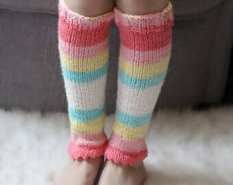 Leg warmers kids, Dance for girls, ballet leg warmers, Unicorn leg warmers, pink.