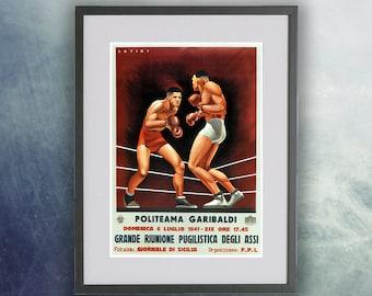 Latini Boxing Vintage Poster Print
