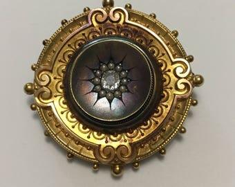 Victorian Gold And Diamond Hair Locket