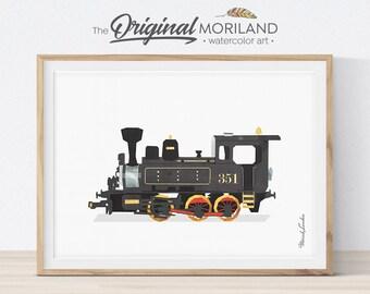 Steam Locomotive Print, Train Printable, Nursery Print, Transportation Decor, Playroom Prints, Train Decor, Steam Engine Wall Decor