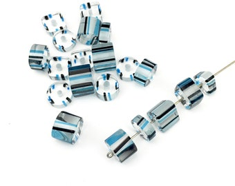 20 furnace glass beads, 8mm to 14mm # PV 0063