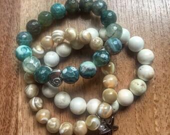 Gorgeous Beachy Set of 3 Bracelets