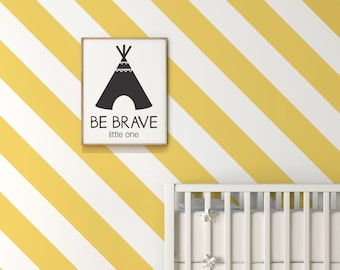 Baby Nursery Wall Stripe Decals - AP0024