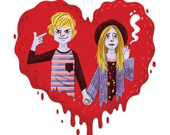 "American Horror Story Tate and Violet 8x8"" art print"