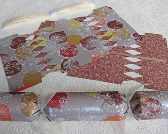 Thanksgiving cracker etsy diy fill make your own holiday cracker kit set of 6 favors frosted leaves solutioingenieria Gallery
