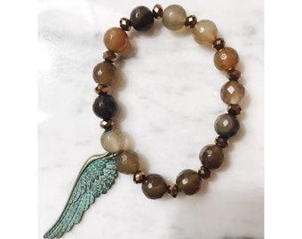 Brown Wing Bracelet