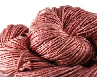 Pink Hand-dyed Silk Sock Shawl DK Weight Yarn, hand dyed BFL silk, shawl yarn, sock yarn - On Pointe