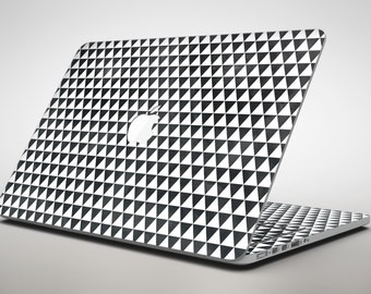 Black and White Watercolor Triangle Pattern - Apple MacBook Air or Pro Skin Decal Kit (All Versions Available)