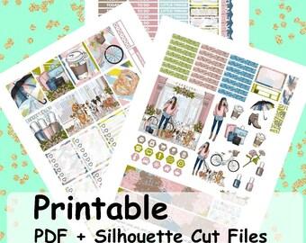 Pastel Fall, Printable Planner Stickers, Weekly Kit, Weekly Planner Stickers, Printable Weekly Sticker Kit