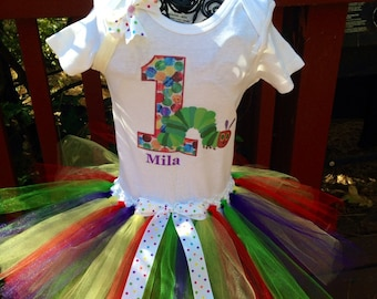 Very hungry caterpillar birthday tutu set