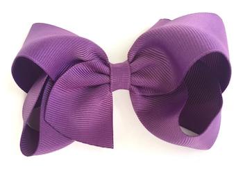 Hair bows - Amethyst - bows, hair clips, hair bows for girls, baby bows, girls hair bows, toddler hair bows, hairbows, boutique hair bows