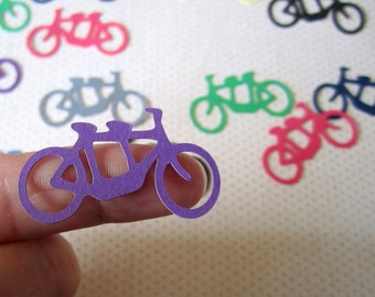 Tandem Bike Confetti, Wedding Confetti, Die Cut, Bicycle Built For Two, Scrapbook Card Making Party Decor, Color Options