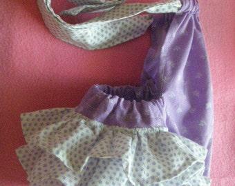 Childs handmade ruffle bum sunsuit 3-6 months ready to ship