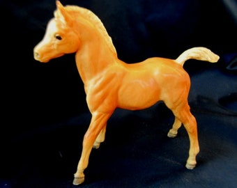 Vintage Antique Glossy Traditional Size Breyer Horse Model Figurine Palomino Filly Foal
