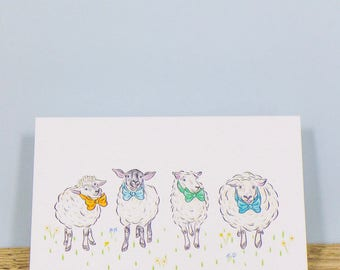 The Family Portrait, Greetings Card - Sheep. Free UK shipping