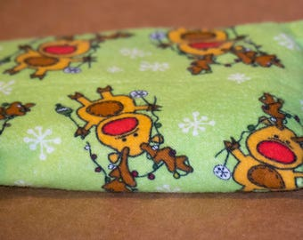 Reindeer Hot Cold Corn Pack 6x6 inches for Hot Therapy and Cold Therapy