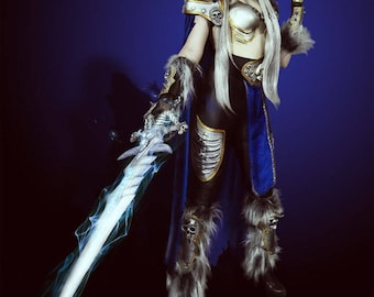 World of warcraft cosplay costume game Lich King Female Arthas Blizzard wow