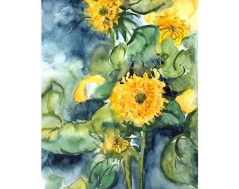 September Gold Original Watercolor Painting