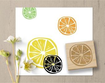 Citrus Stamp, Lemon Stamp, Orange Stamp, Lime Stamp, Fruit Rubber Stamp, Spring Summer Stamp, Food Stamp, Cooking Kitchen Stamp 142