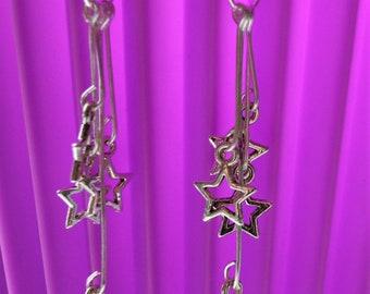 Moon and Stars Earrings // Spiritual // Star Charm Earrings // Pagan // Moon Earrings // Hippie // Celestial Earrings // pagan