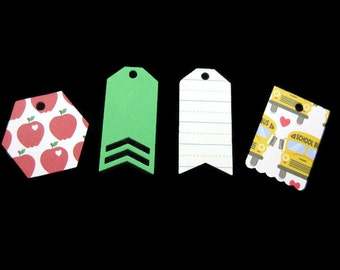 Back to School Gift Tags, School Gift Tags, Teacher Gift Tags Set of 16