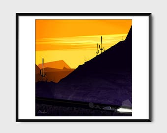 Arizona Night Drive Print