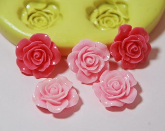 0050- 5 Roses Silicone Rubber Food Safe Mold-resin, clay, fondant, chocolate, soap, wax, UTEE, wedding roses, flower mold