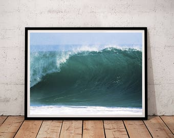 Ocean Wall Art, Ocean Printable, Ocean Print, Ocean Printable Art, Ocean Wave Print, Wave Wall Art, Wave Printable, Sea Print, Sea Water