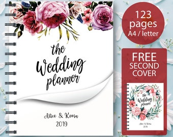 Wedding Planner Printable, Printable Wedding Planner, Wedding Planning Book, Wedding Binder Template, Engagement Gift Ideas, PDF Download