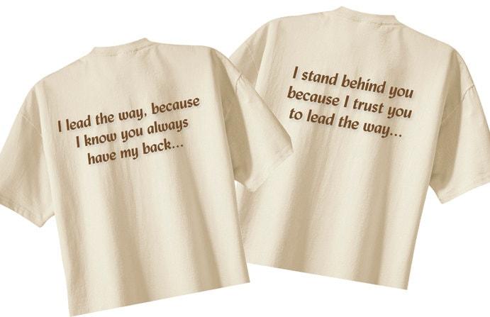 Matching couples shirts anniversary gift idea tshirt set for
