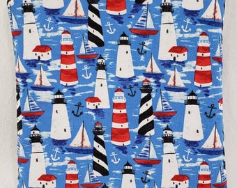 Liberty Lighthouses in the Sea Quillow/Blanket/Throw/Travel Quillow