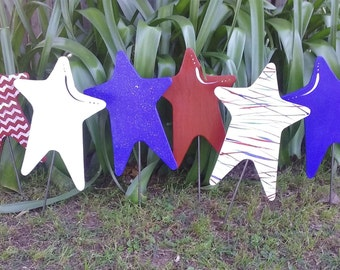 Star Spangled Garden Stake Set