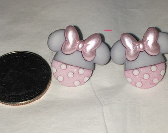 Pink Minnie Mouse Earrings