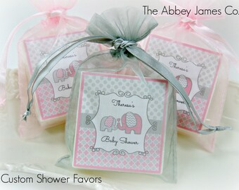 Baby Shower Favors, Elephant Baby Shower Favors, Girl Baby Shower Favors,  Soap Favors