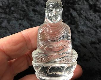 Gem Grade Quartz Buddha Carving from India