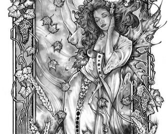 AUTUMN FAIRY FANTASY Art Print