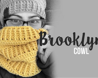 Crochet Pattern // Brooklyn Cowl // Easy