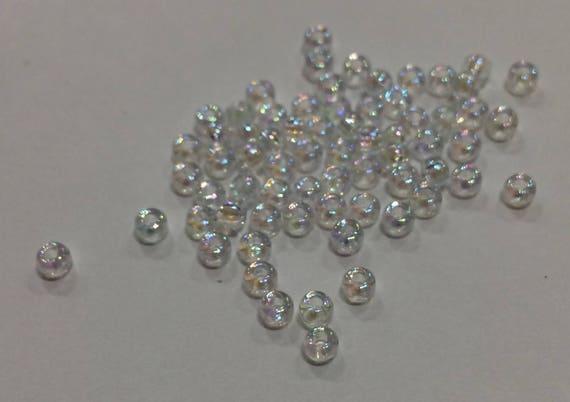 Size 8/0 Miyuki Seed Bead Crystal AB 15g