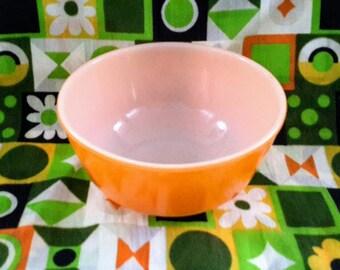 Anchor Hocking Orange Mixing Bowl, 400 Line