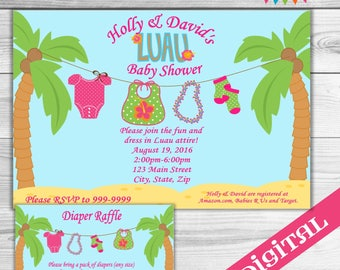 DIGITAL Baby Luau Baby Shower invitation