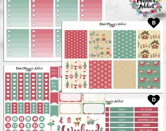 Vertical Weekly Kit Planner Stickers - Christmas Workshop | Boxes, MDN Stickers, Icons | For Use With Erin Condren Life Planner™ (EC-021)