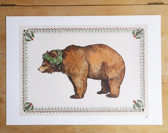 Signed Brown Bear // Signed A3 print