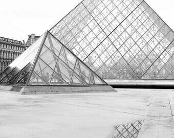 Louvre Fine Art | Paris Art Print | Modern Art Print | Fine Art Photography | Parisian Art | Black and White Fine Art | Photography in Paris