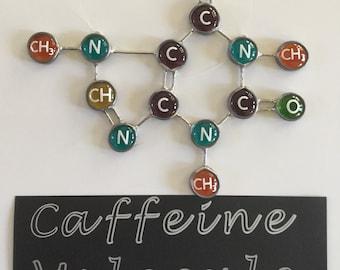 Handmade CAFFEINE Molecule Glass Gems