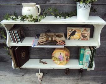 Bookcase, 87x66x20 kitchen Shelf shabby * pattern *