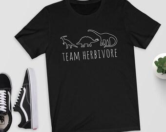 Team Herbivore - T-Shirt/Shirt/Top/Tee - Vegan Shirt/Veggie/Vegetarian/Vegetarian Shirt/Vegan/Vegan Gift/Herbivore Shirt/Dinosaur Shirt/Dino